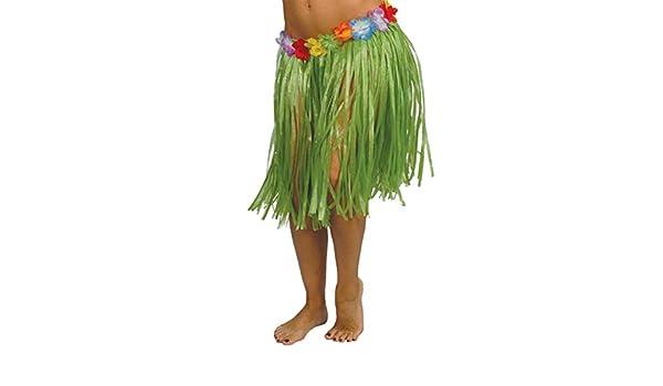 Guirca Falda Hawaiana con Flores en Varios Colores 50 cm: Amazon ...
