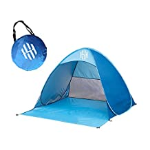 Hot Sky Pop Up Beach Tent – Portable Backyard, Swimming or Camping Outdoor Sun Shelter – UV Protection for Kids, Adults & Families – Lightweight, No Assembly Required
