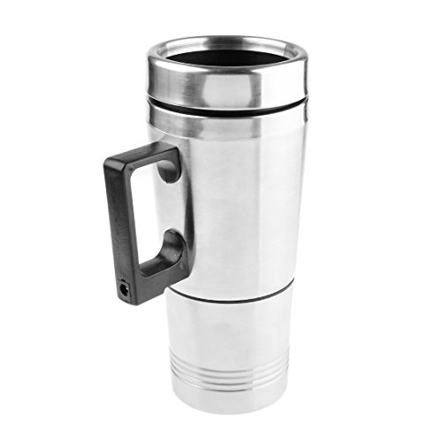 Heating Cup, PeleusTech 12V Car Cigarette Lighter Heating Cup Kettle Vacuum Insulated Stainless Steel Water Heater Mug (Coffee Heater For Car compare prices)