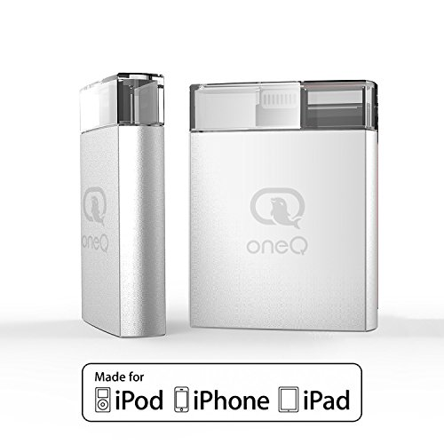 OneQ iPhone Flash Drive, OneQ iOS Flash Drive External Storage Memory Expansion Stick with Lightning Connector for iPhone iPad - 16G Sliver [Apple MFI Certified] (Memory Stick Products)