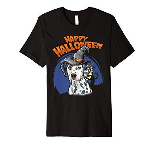 Dalmatian Costumes For Halloween - Happy Halloweenie Gift Premium T-Shirt -