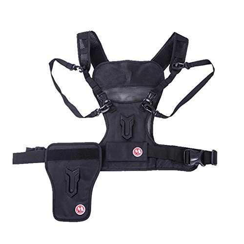 Micnova MQ-MSP01 Multi Camera Carrying Chest Harness System Vest with Side Holster for Canon Nikon Sony DSLR Cameras [並行輸入品]   B01M5C192C