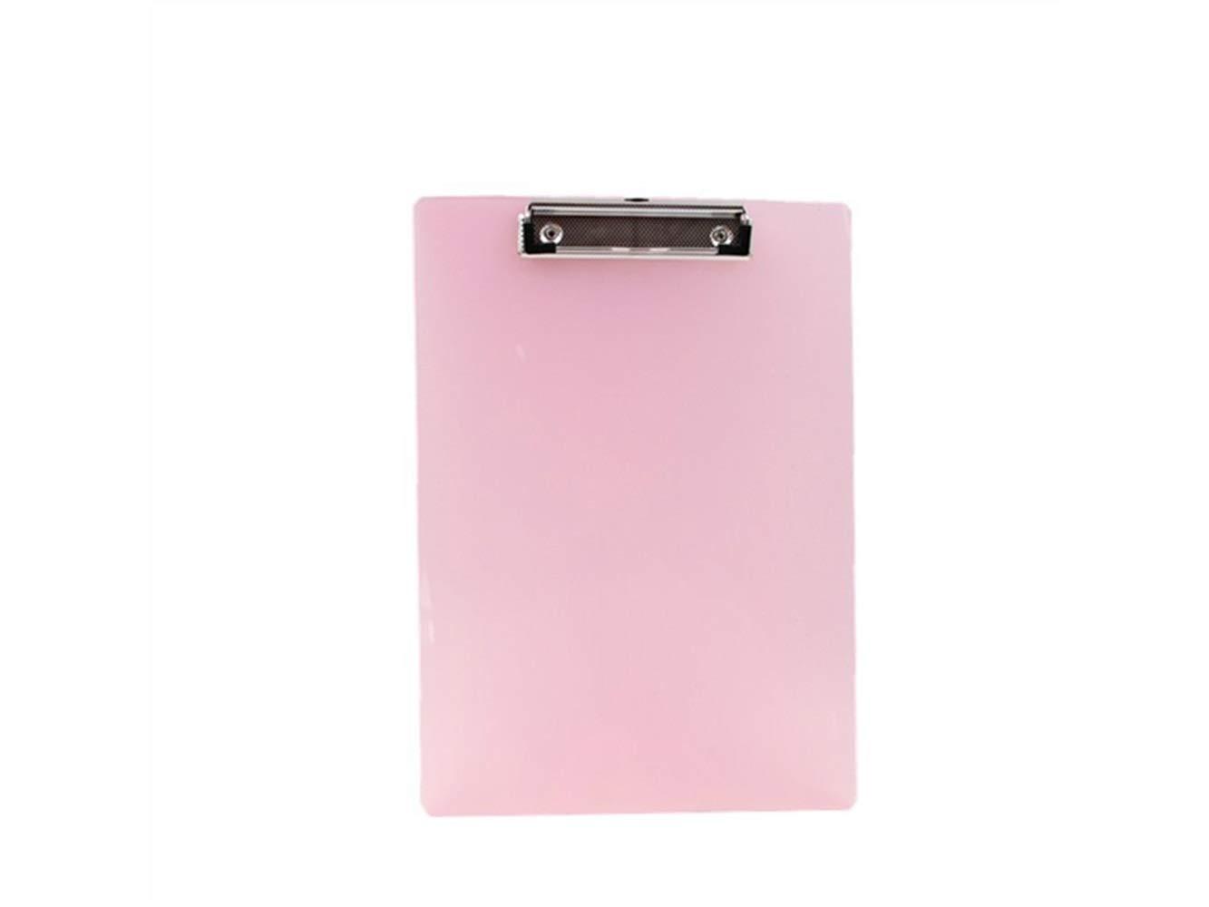 JxucTo A4 Transparent Colourful Clipboard Portable Document Folders Plastic Writting Pad (Random Colour)
