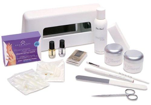 Star Nail T3 Professional Fibergel Kit with UV Light (9 Watt, 110 Volt, USA Plug) by NailStar