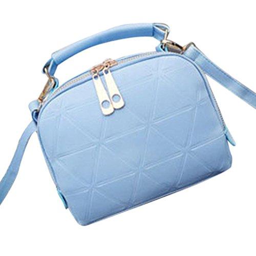 Las mujeres bolso, brezeh bolso bandolera PU Tote bolso Messenger, negro azul