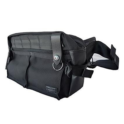 8436d34ada Yoshida Bag Porter Waist Bag Heat 703-07971 Black from Japan