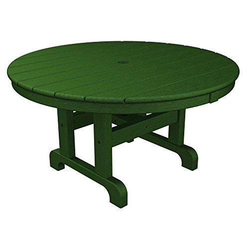 (Round Conversation Coffee Table Finish: Green, Size: 36