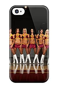 Tpu Case Cover For Iphone 4/4s Strong Protect Case - Cleveland Cavaliers Nba Basketball (20) Design