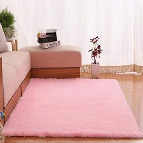 Waterp Faux Fur Sheepskin Carpets Living Room Plush Mats Home Decor Non-Slip Rugs Seat Pad for Bedroom Kids Play Mat