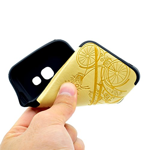 inShang Funda para Samsung Galaxy A3(2017) suave TPU Carcasa Cajas Soporte Skin case cover Para Galaxy A3(2017) Yellow tower