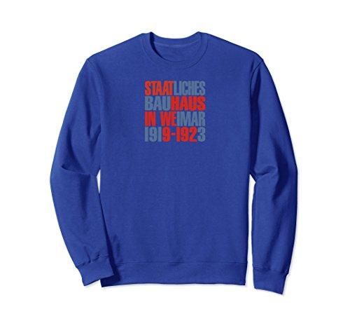 Unisex Staatliches Bauhaus Cover Sweatshirt Large Royal Blue