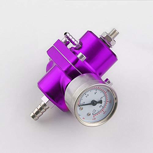 XuBa Car Fuel Pressure Regulating Valve Fuel Pressure Regulator 4-Way Supercharger Purple: