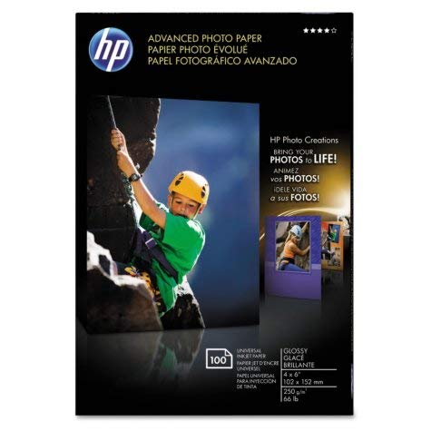 Advanced Photo Paper, 56 lbs., Glossy, 4 x 6, 100 Sheets/Pack, Sold as 100 Sheet 6 Photo Paper 100 Sheets