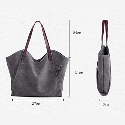 Vintage Tote Tracolla Borsetta Borse Mano Casual Bag Signore Grande Donne Shopping Tela Per YJIUJIU Shopper A Borse A w5HInx0E6q