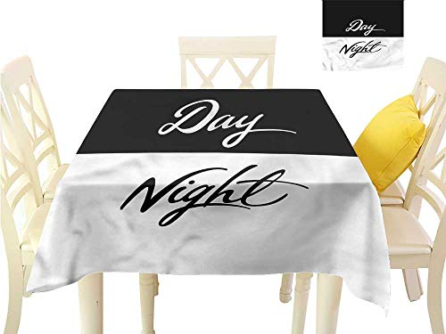 WilliamsDecor Dinning Tabletop Decoration Day and Night,Night Cycle of Earth Summer Table Cloths W 54