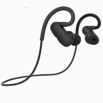 HHLUW Ear Hook Sports Earbuds Running Auriculares inalámbricos Bluetooth Stereo Auriculares IP4X Auriculares a Prueba de