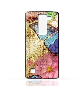 LG Spirit TPU Silicone Case with Vintage Butterfly Pattern