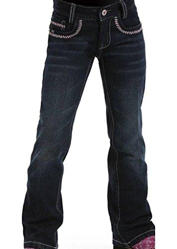 Cruel Girl Girls' Ella Slim Fit Jeans 4-6X Dark Denim 5 S