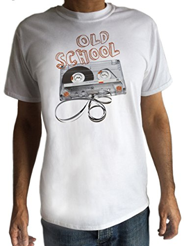 80er Retro-T-shirt, modisches Design, Stereo, Hi-Fi Music Cassette Tape T-shirt C 9-6