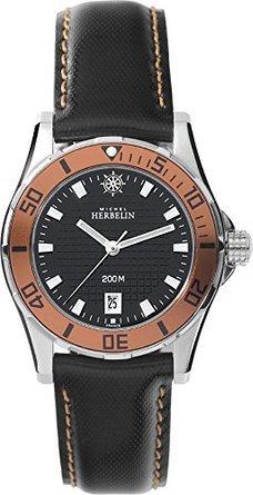 Michel Herbelin 14290-AO14 Ladies Newport Trophy Brown Leather Strap Watch