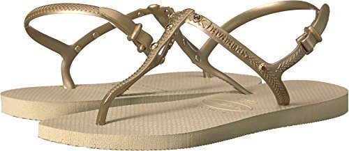 - Havaianas Women's Freedom Crystal SW Flip-Flops Sand Grey 39-40 M Bra