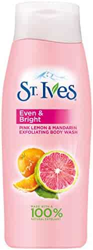 St. Ives Even & Bright Body Wash, Pink Lemon and Mandarin Orange 13.5 oz