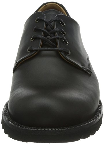 Panama Jack Jackson C3 Napa Scarpe Stringate Basse Derby Uomo Nero schwarz negro Black