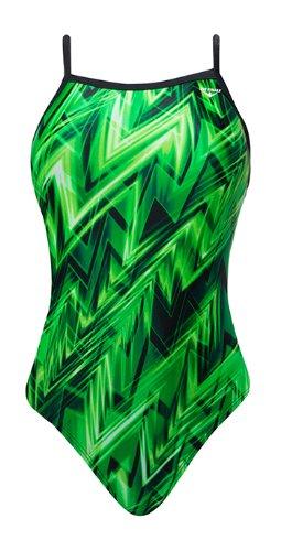 The Finals Women's Onyx Female Butterfly Back, Green, Size 28