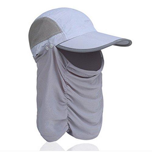 Sun Visor Mesh (CellCase Visor Sun Caps Hats Foldable Detachable Quick-drying Anti-mosquito Mask Hat with Head Net Mesh Face UV Sun Protective for Man Women Outdoor Cycling Hiking Fishing Garden (Gray))