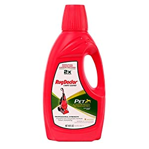 Rug Doctor Pet Formula Carpet Cleaning Solution, Permanently Removes Tough Pet Stains and Neutralizes Odors, Works in All Leading Deep Cleaning Machines, 40 oz.
