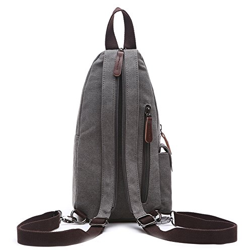 VeBrellen Bolsa de viaje de gran capacidad bolso de los hombres equipaje de viajes bolsa de hombre bolsas de lona de bolsa de mensajero (Army Green) Gray