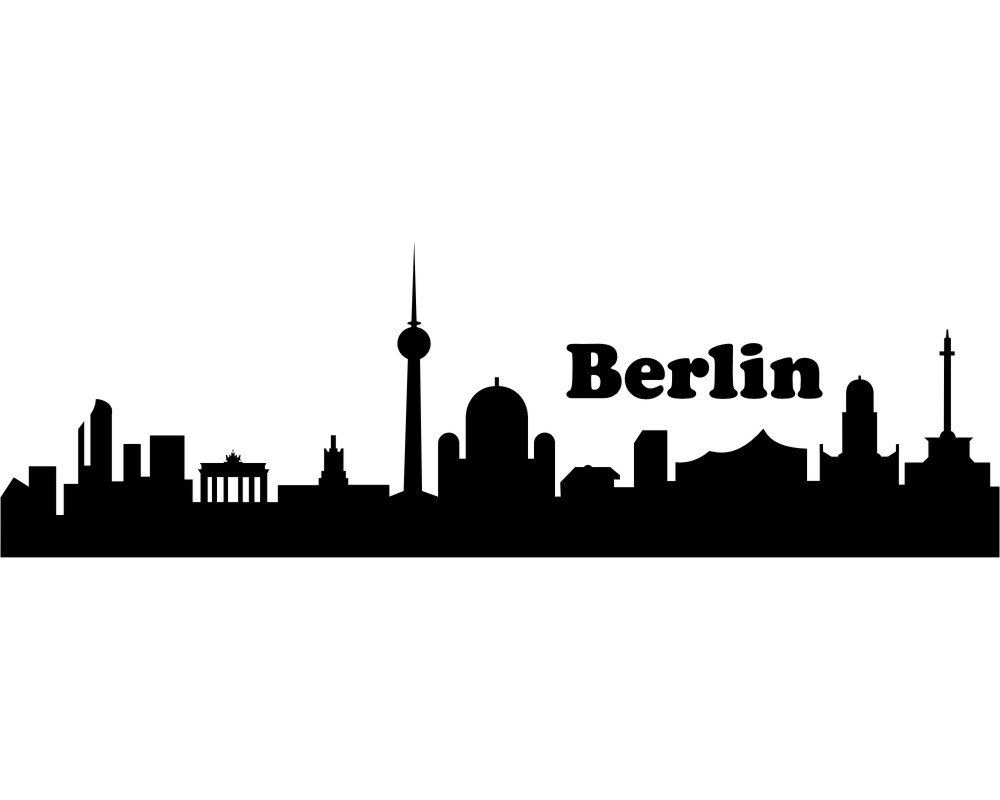 Verzauberkunst Wandtattoo Berlin Galerie Von Plot4u Skyline Schwarz 30x9.4 Cm: Concept.de: Küche