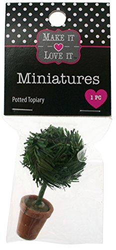 Make it Love it Craft Miniatures Topiary In Terra Cotta Pot for Fairy Garden or Doll House