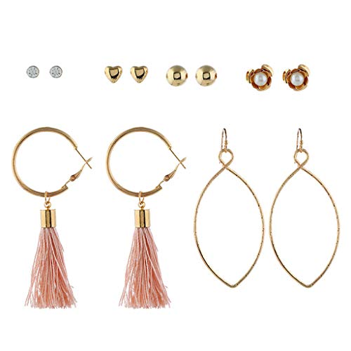 Fashion Drop Dangle Girls Boho Earrings,Londony◈ Bohemian Retro Rose Gold Tassel Earrings Pink Fringe Gifts for Women. ()