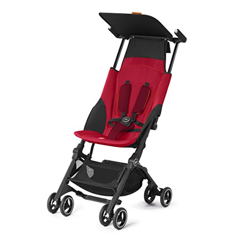 GB Pockit PLUS Stroller 2017 / multi-adjustable backrest / Light Traveler / from 6 Mo.-4Y. Dragonfire Red by GB