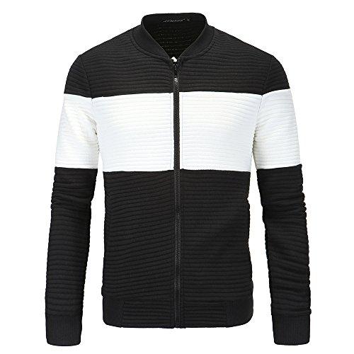 Casual MEI Chaqueta Estación hombres amp;S Collar Otoño ropa Negro Invierno Los Tops 3XL Coat rxYTrqw8