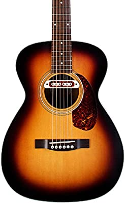 Guild Guitars M-240E Troubadour VSB W/B Acoustic Electric Guitar with Bag, Vintage Sunburst