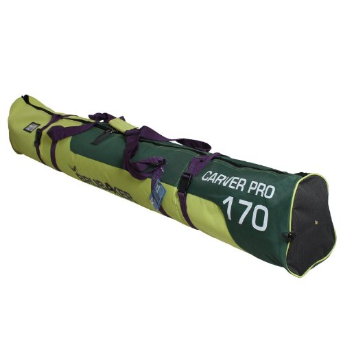 """BRUBAKER Padded Ski Bag Skibag Carver Pro 2.0 with strong 2 Way Zip and Compression Straps Available in 11 Colors and in 66 7/8"""" or 74 3/4"""""""