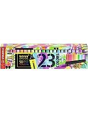 Marcador de Texto Stabilo Boss, Estojo Deskset com 23 cores Boss 50 Anos, Multicor