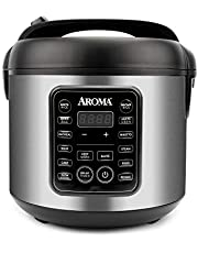 Aroma Housewares ARC-5200SB 2O2O Model Rice & Grain Cooker, Sauté, Slow Cook, Steam, Stew, Oatmeal, Risotto, Soup, 20 Cup 10 Cup uncooked, Stainless Steel