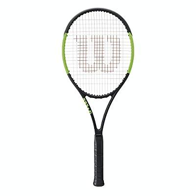 Wilson Blade 104 Black/Green Tennis Racquet Strung with Custom Colors