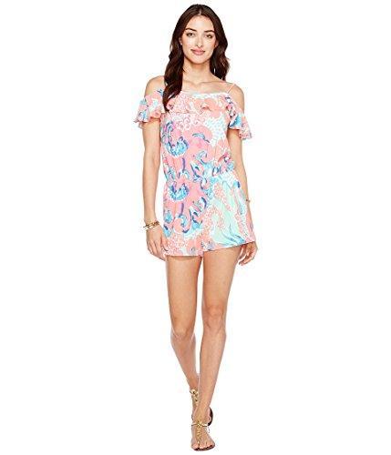 Lilly Pulitzer Women's Klea Romper Coral Reef I'M So Jelly Jumpsuit by Lilly Pulitzer