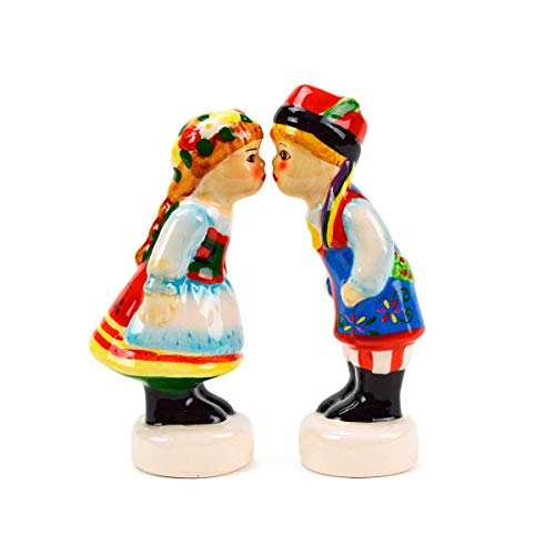 (Essence of Europe Gifts Polish Ceramic Salt and Pepper Set)