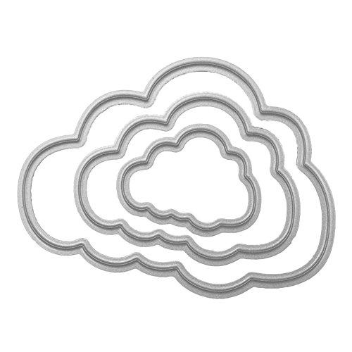 エンボスステンシル DIY用品 手作り カード作り道具 紙飾り用具 雲 金属切削ダイスステンシル 節日 ダイカットテンプレート 雰囲気