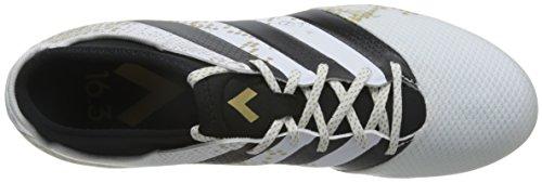 adidas Ace 16.3 Primemesh Ag, Botas de Fútbol para Hombre Blanco (Ftwbla / Dormet / Negbas)