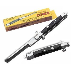 Set of 2 Stainless Steel Switch Blade Comb (Switchblade Comb)
