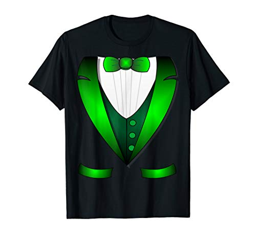 Irish st patrick's day leprechaun Irish tuxedo t shirt