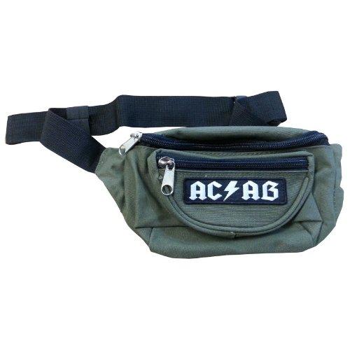 WFS 02 WOLFSSPITZ Schwarze GÜRTELTASCHE Bauchtasche Hüfttasche Bag Tasche