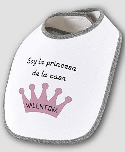 Babero bebé bandana personalizado corona con nombre 100% algodón ...