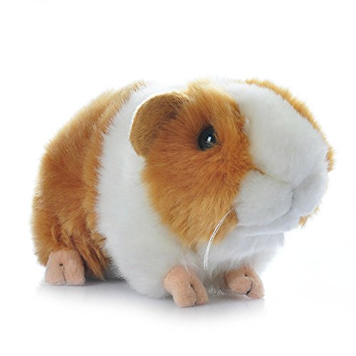- 7-Inch Simulation Guinea Pig Plush Toy Bunny Plush Stuffed Toys (Orange)
